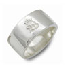 W Logo mark Plate Ring White オンリーワン WWR-2005 WH |09