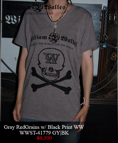 Tシャツ WWST-41779 GY|BK M